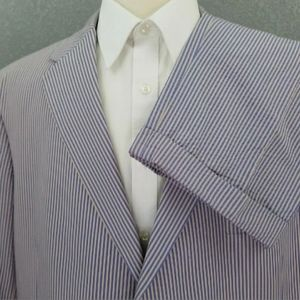 Hickey Freeman Bespoke Seersucker Cotton SUIT 46S
